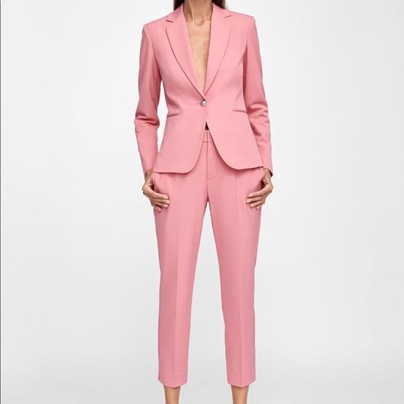 Pink Pants Suit